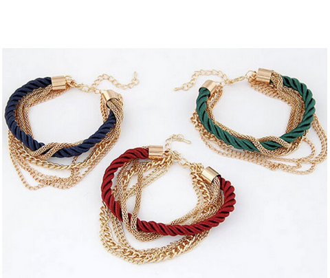 Multi layer Gold Plated Snake Bracelet