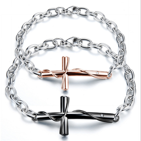 Couples Cross Bracelets