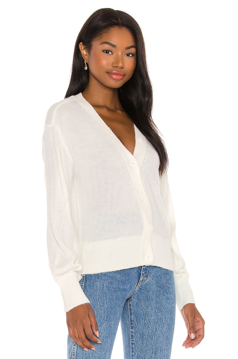 Brushed Balloon Sleeve Cardi