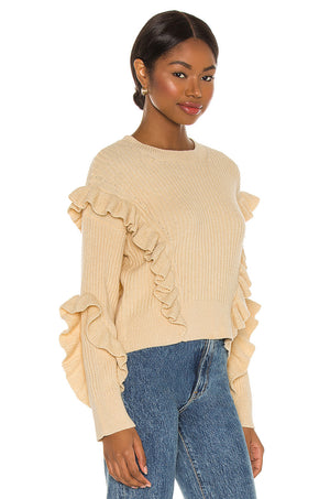 Quinn Ruffle Sweater