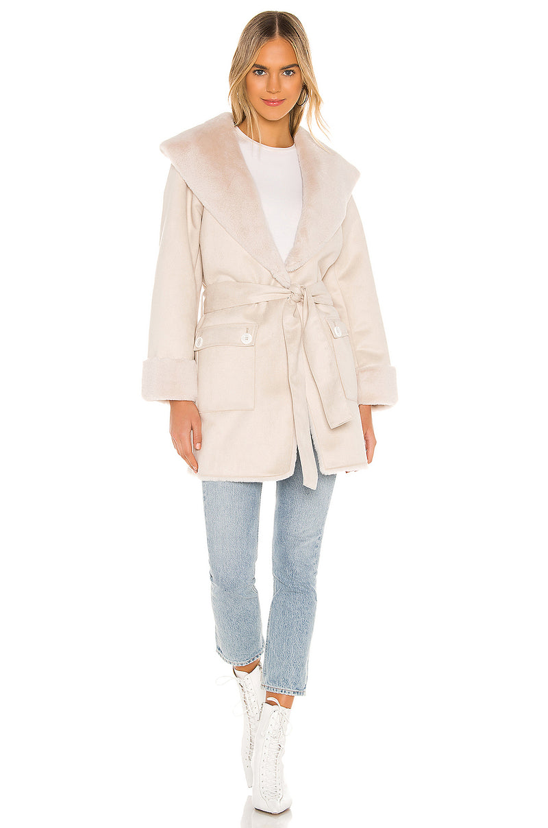 Edith Faux Fur Coat