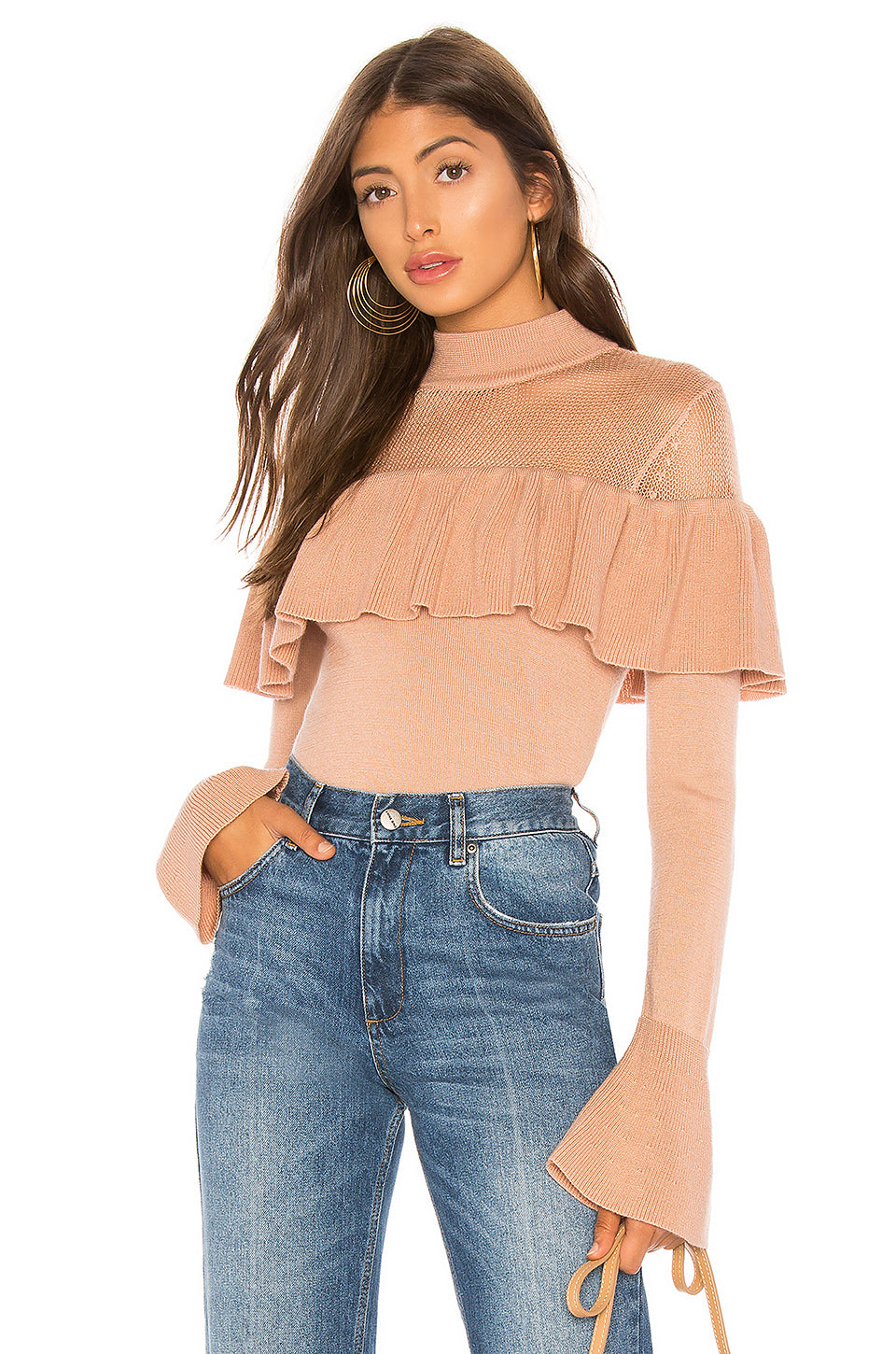 Alexa Ruffle Sweater