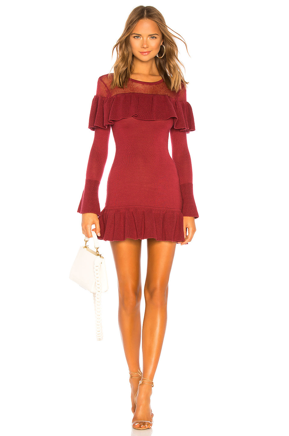 Alexa Ruffle Sweater Dress