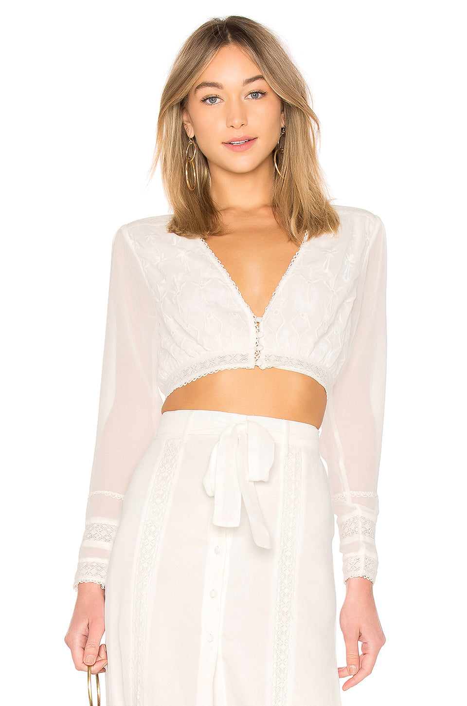 Barbara Crop in Ivory. - size M (also in L,S,XS) Tularosa