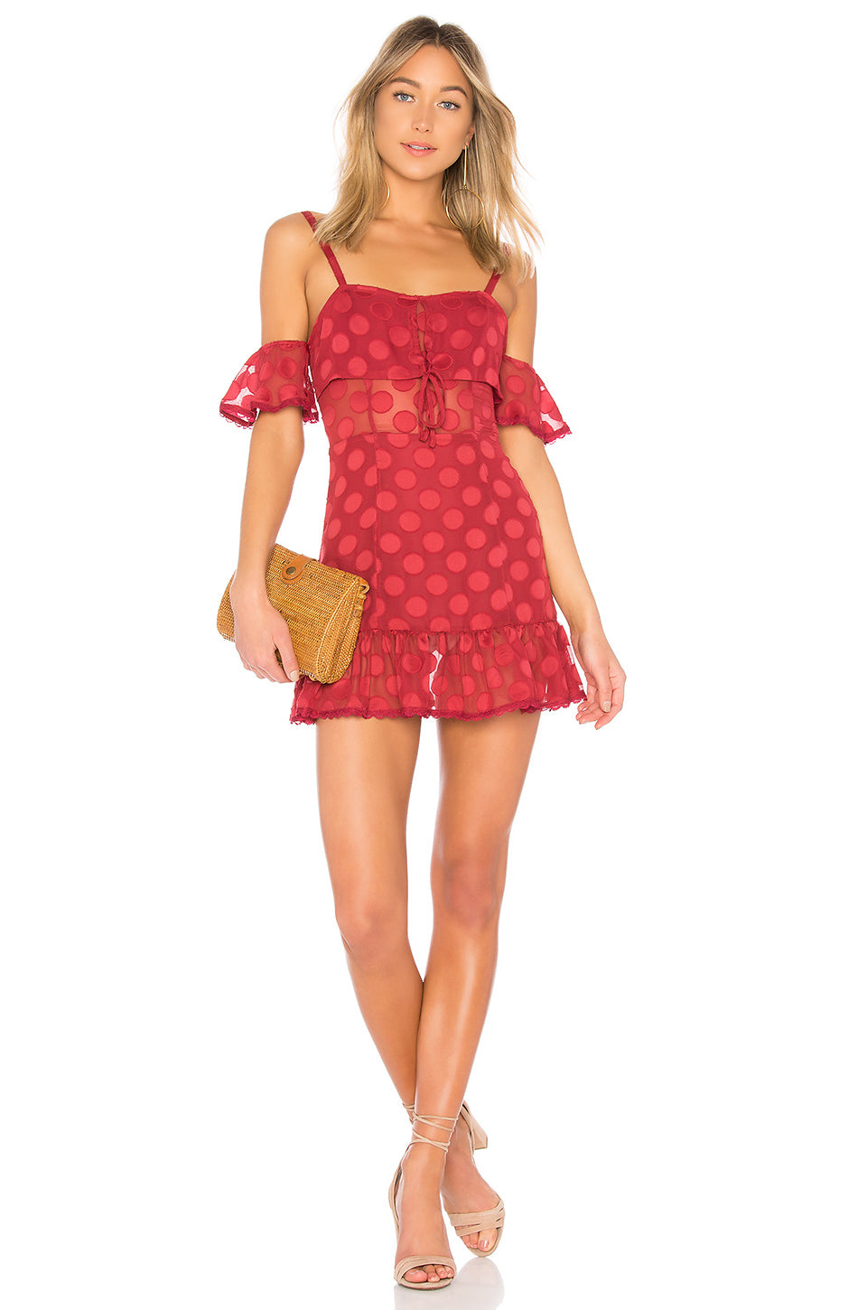 Brinley Dress In Red. Robe Brinley En Rouge. - Size M (also In L,s,xs) Tularosa - Taille M (également À L, S, Xs) Tularosa