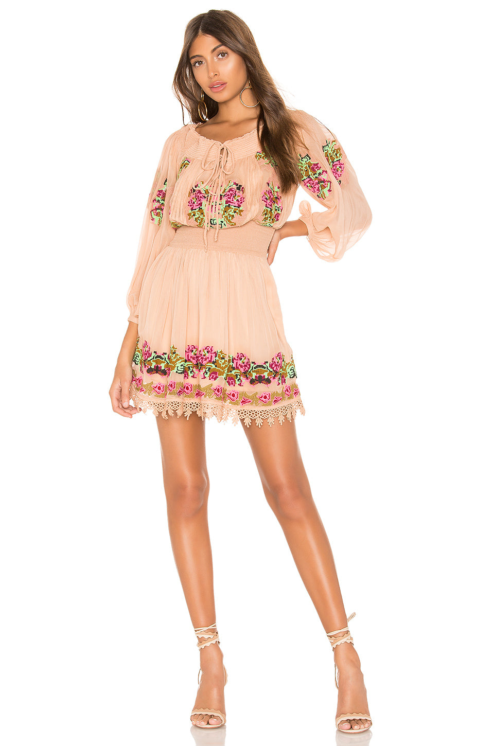 Calista Embroidered Dress