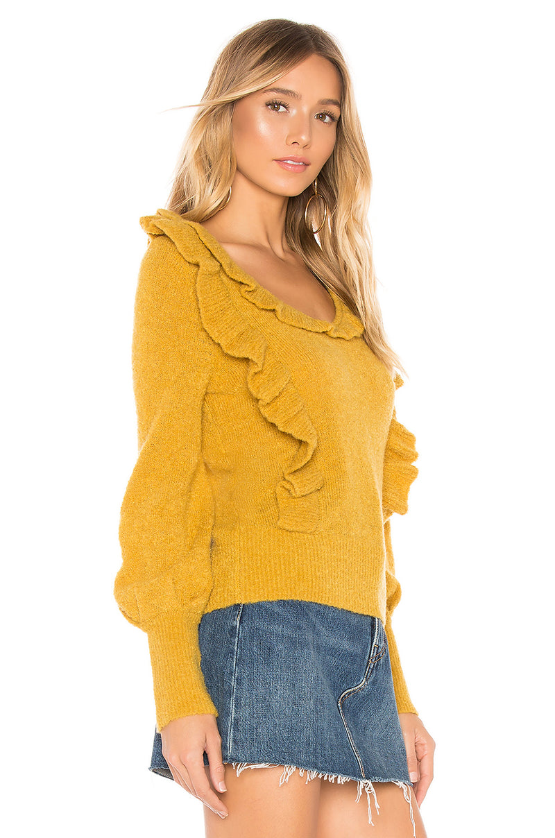 Dahlia Ruffle Sweater