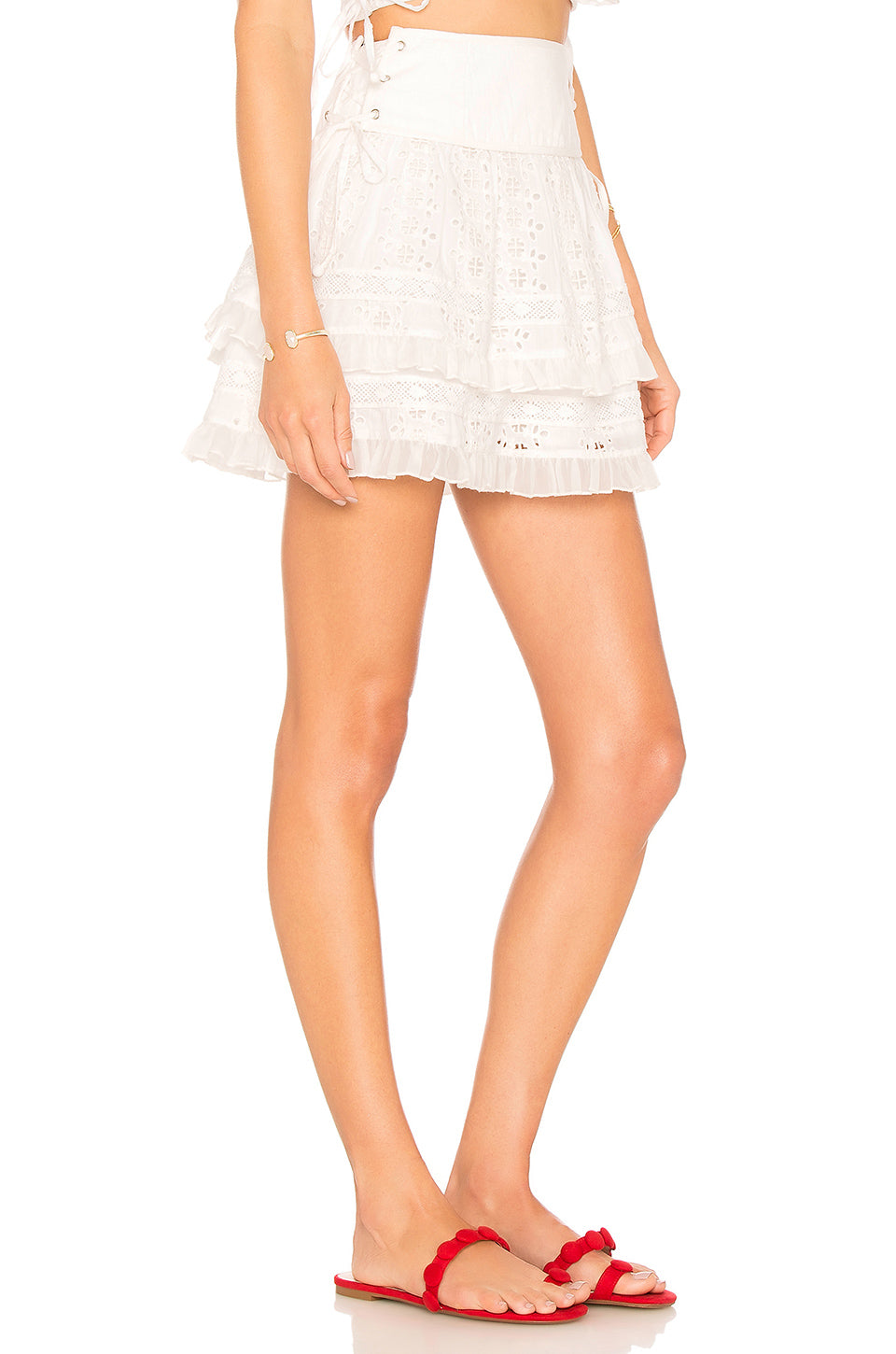 Frances Skirt in Ivory. - size S (also in L,M,XS,XXS) Tularosa