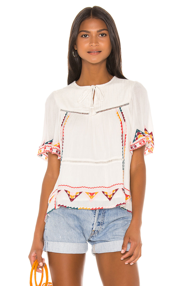 Ingrid Embroidered Top