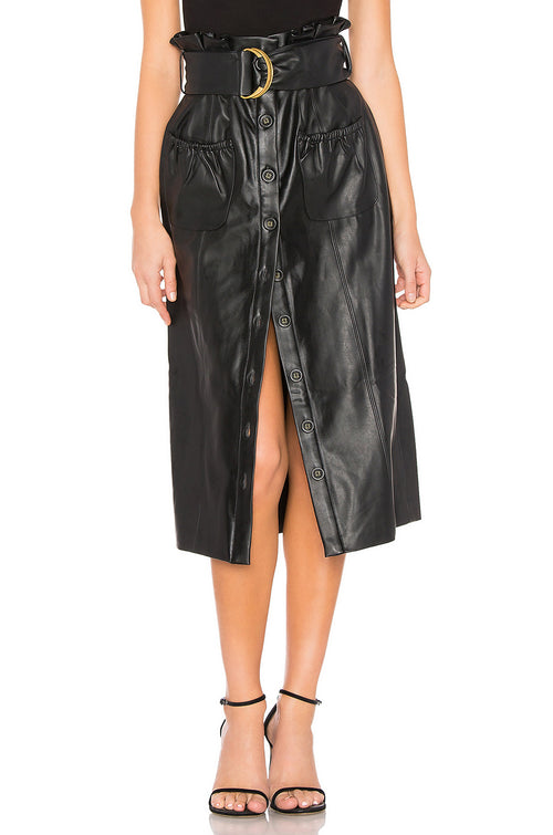 Jenna Faux Leather Skirt