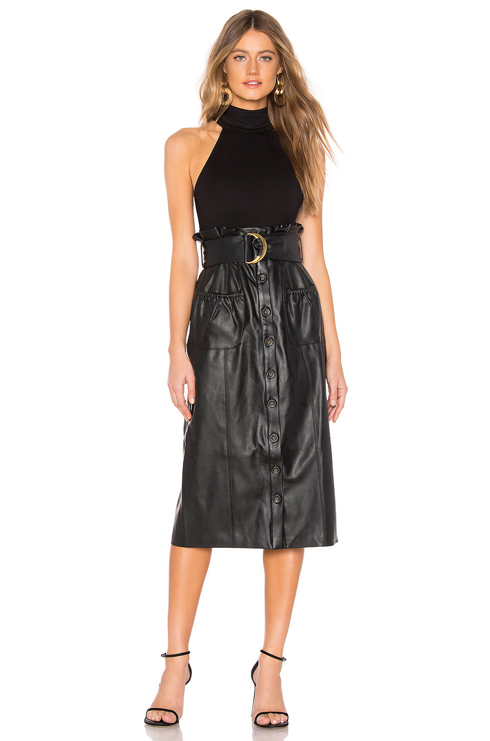 af13549f7f Jenna Faux Leather Skirt in Black – TULAROSA