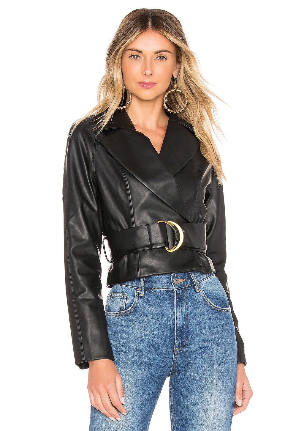 Joan Faux Leather Jacket