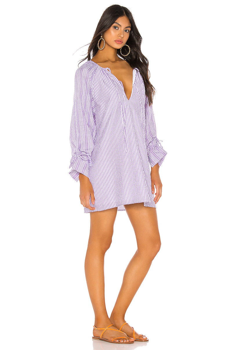 Justina Tie Sleeve Dress
