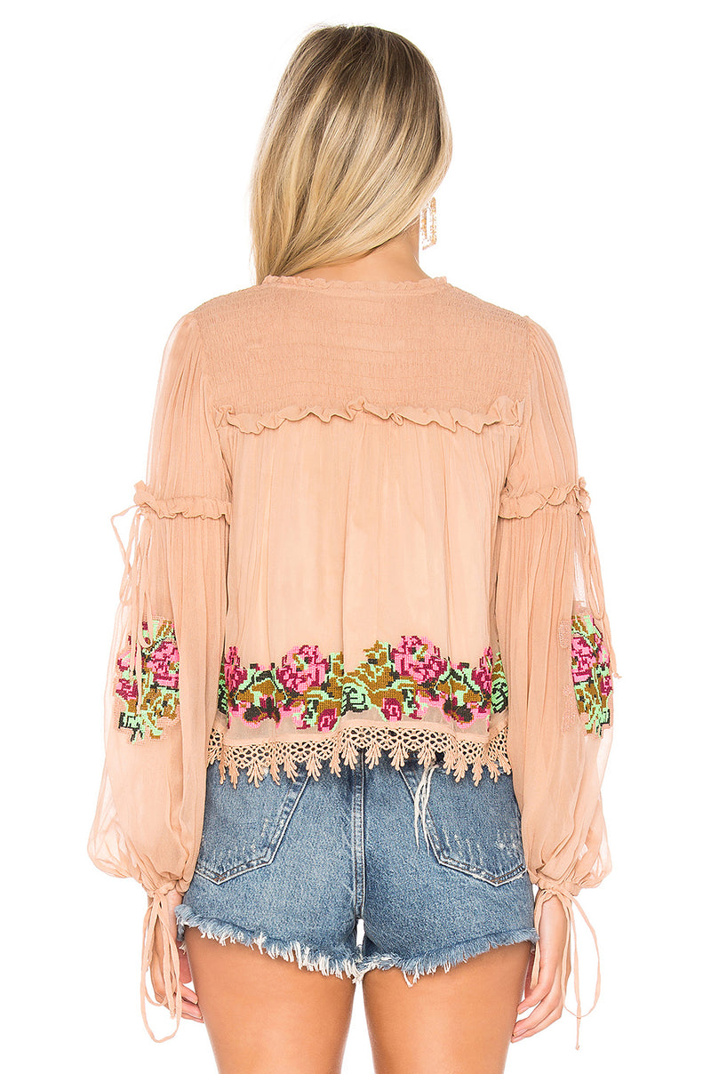 Lottie Embroidered Top