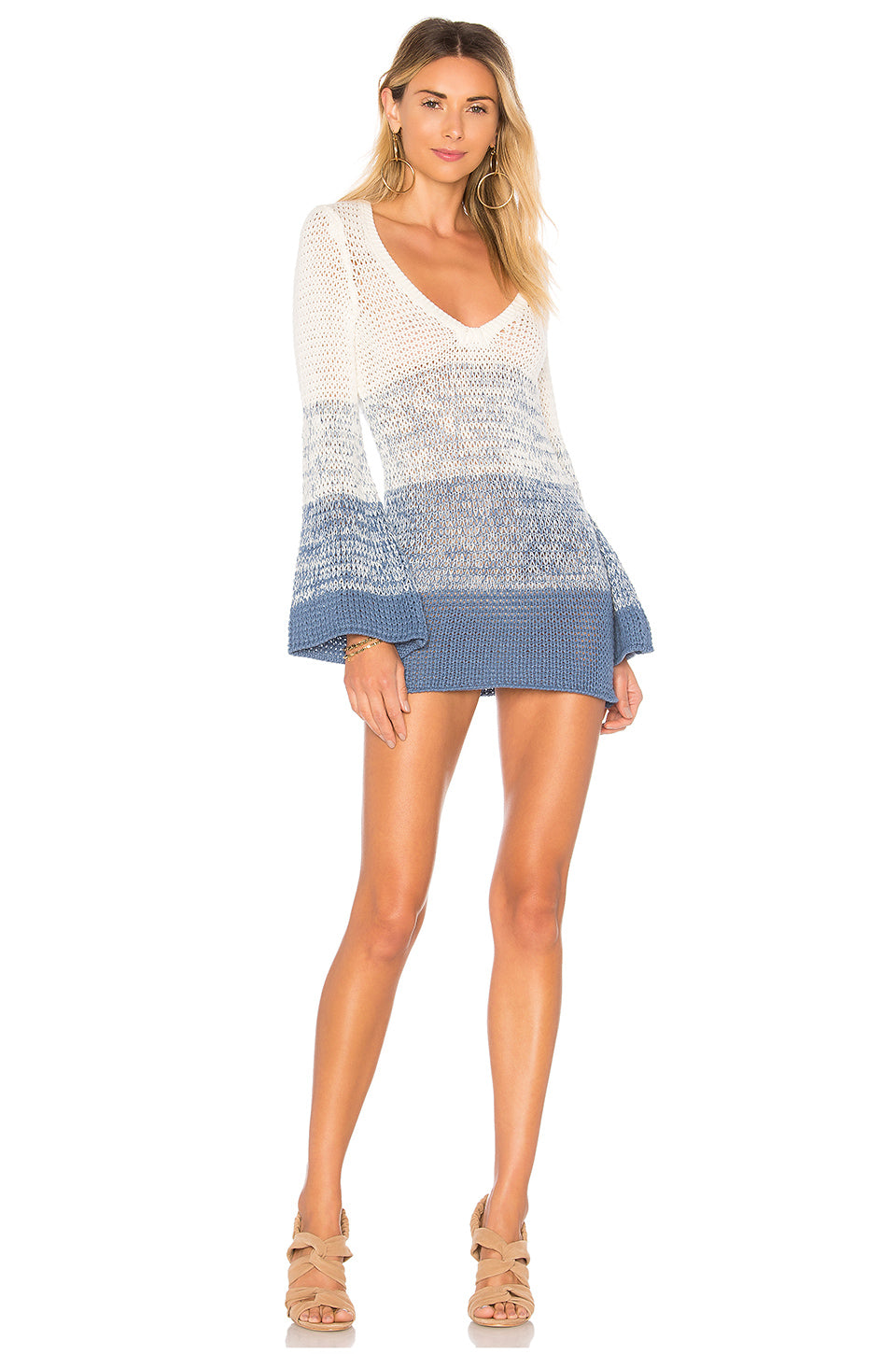 e7d14dff2ed7 Lucy Dress in Blue Ombre – TULAROSA