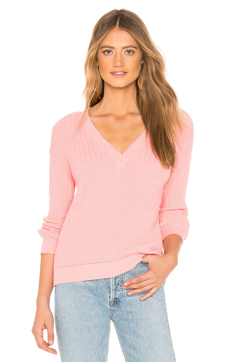 Rib V Neck Sweater