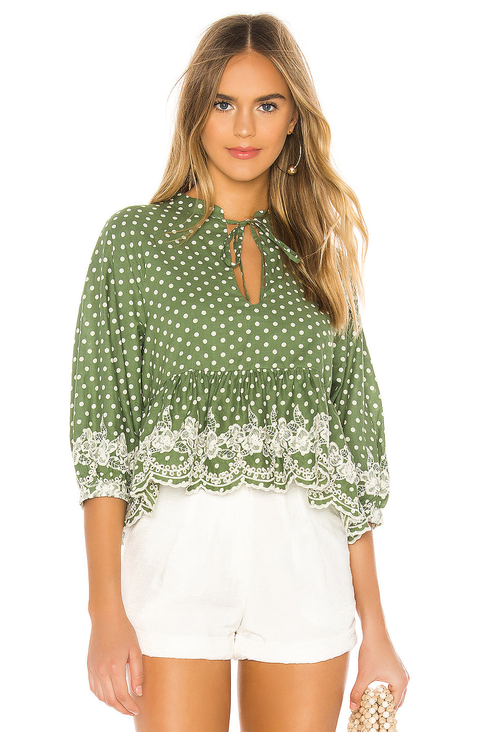 Simone Embroidered Top