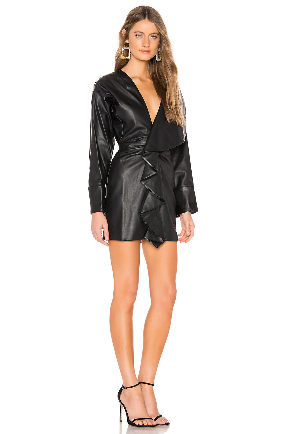 Tamera Faux Leather Dress