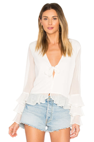 Molly Flutter Sleeve Blouse
