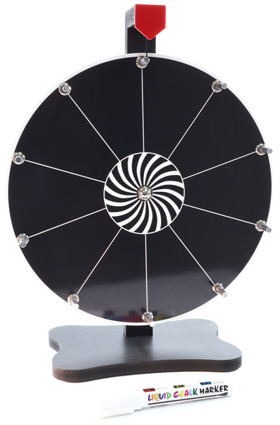 Prize Wheel 12-inch Table Top - Black Version