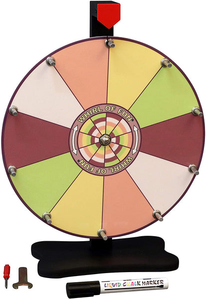 Prize Wheel 12-inch Table Top - Sorbet Color