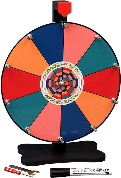 Prize Wheel 12-inch Table Top - Tropical Color
