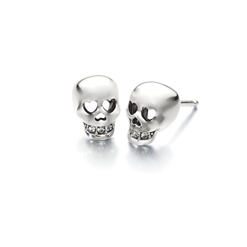 Love You To Death Skull Earrings - 1311-0001