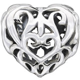 Heart Filigree Charm - 2010-3136