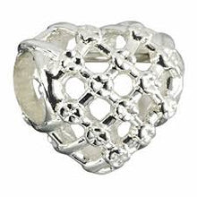 Load image into Gallery viewer, Woven Heart Charm - 2010-3266