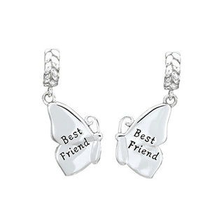 True Blue Friendship Butterfly Charm - 2025-1428