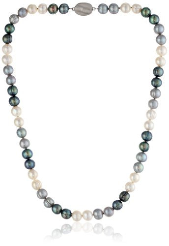 "Honora ""Tuxedo"" Freshwater Cultured Pearl Necklace, 18"""