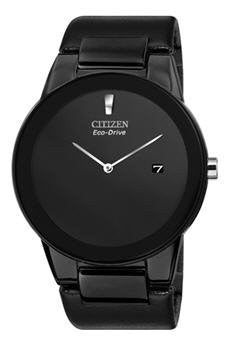 "Citizen Men's AU1065-07E Eco-Drive ""Axiom"" Black Leather Strap Watch"