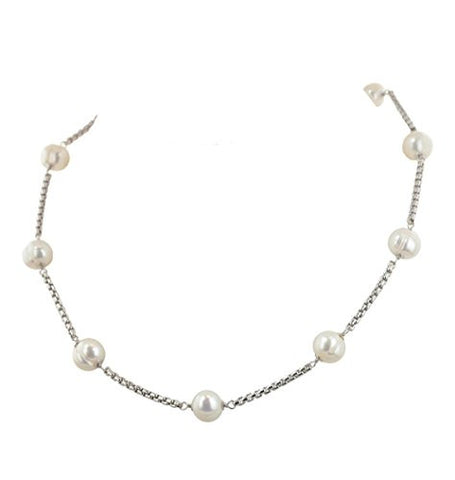 "Honora ""Metro"" White Freshwater Cultured Pearl Tincup 18"" Necklace LN5631WH18"