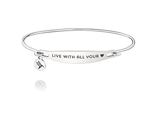 ID Bangle - LIVE WITH ALL YOUR HEART, S/M - 1010-0204