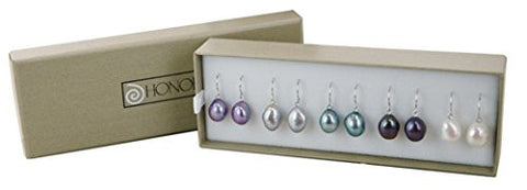 Honora Dark Palette Freshwater Cultured Pearl Dangle Earrings Set LES5535D