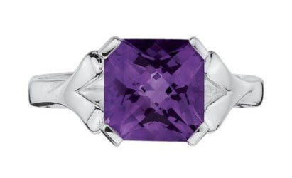 Colore Sterling Silver Amethyst Ring LVR416-AM
