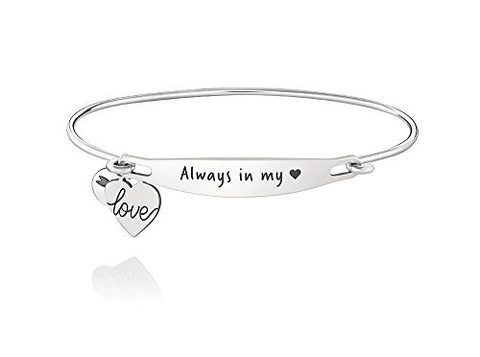 Authentic Chamilia ALWAYS IN MY HEART ID Bangle, S/M 1010-0226