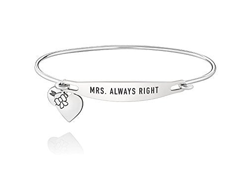 ID Bangle - MRS. ALWAYS RIGHT, S/M - 1010-0258
