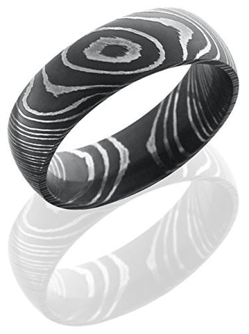Lashbrook D7D Wedding Band - Damascus Steel
