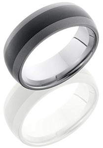 Lashbrook TCR8349 Sandblast & Polish Finish Wedding Band - Tungsten/Ceramic