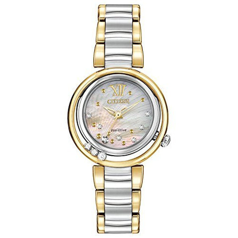 Citizen Women's EM0324-58D Citizen L Sunrise Analog Display Japanese Quartz Two Tone Watch
