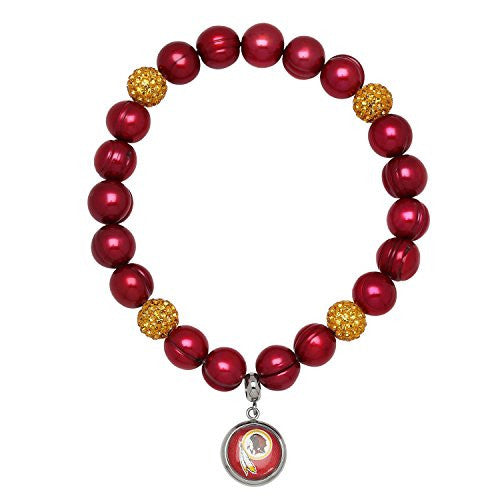 Honora Licensed NFL Washington Redskins Football freshwater pearl & crystal bracelet NFB7938WR75