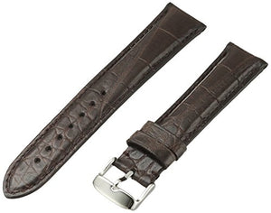 MS824 - 20 mm - Brown Genuine Matte Alligator Strap bt Hadley Roma