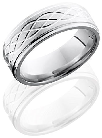 Lashbrook CC8FGECELTIC6 Celtic Knot Wedding Band - Cobalt Chrome