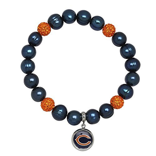 Honora Licensed NFL Chicago Bears freshwater cultured pearl & crystal bracelet NFB7938CB75