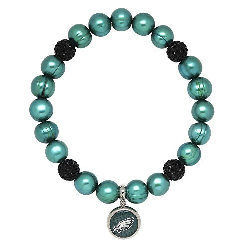Honora Licensed NFL Philadelphia Eagles freshwater cultured pearl & crystal bracelet NFB7938PE75