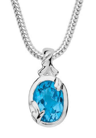 Colore Sterling Silver Blue Topaz Pendant LVP412-BT