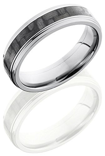 Lashbrook C6FGE13/CF Carbon Fiber Inlay Wedding Band - Titanium