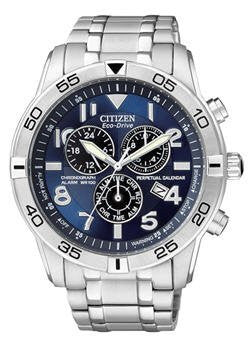 Citizen Men's BL5470-57L Eco-Drive Stainless Steel Perpetual Calendar Chronograph Watch