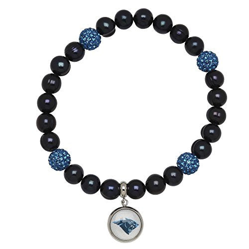Honora Licensed NFL Carolina Panthers freshwater cultured pearl & crystal bracelet NFB7938CP75